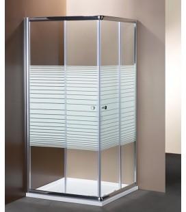 Box doccia angolare in cristallo serigrafato da 6 mm 70X70 Profilo cromo Brillante