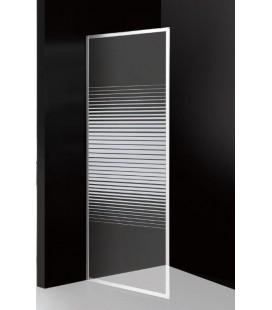 Parete doccia fissa in cristallo serigrafato da 6 mm Profilo cromo